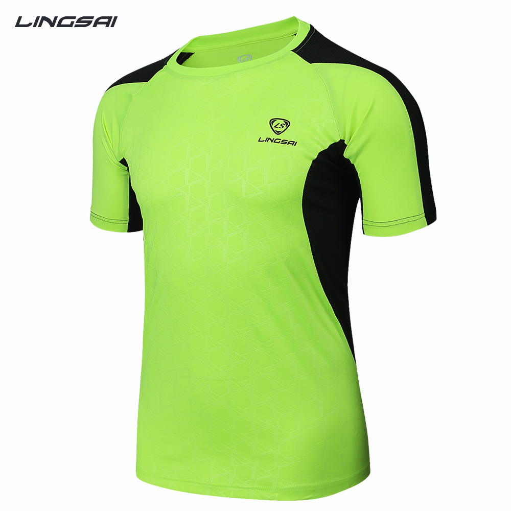 df830798d54 Get Quotations · LINGSAI customize t-shirts Brand Fashion 2015 new  compressed shirt men running tops quick dry