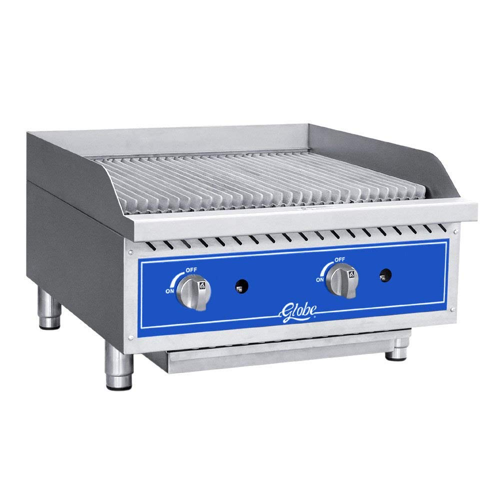 """Get Quotations · Table Top king GCB24G-RK 24"""" Gas Lava Rock Charbroiler -  80,000 BTU -"""