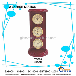antique wood furniture decoration weather station YG390
