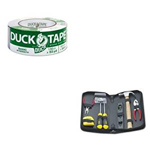 KITBOS92680DUC1118393 - Value Kit - Duck Utility Grade Tape (DUC1118393) and Stanley General Repair Tool Kit in Water-Resistant Black Zippered Case (BOS92680)