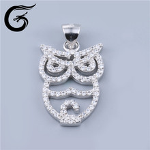 Guolong 925 sterling silver necklaces jewelry 2016 owl pendant