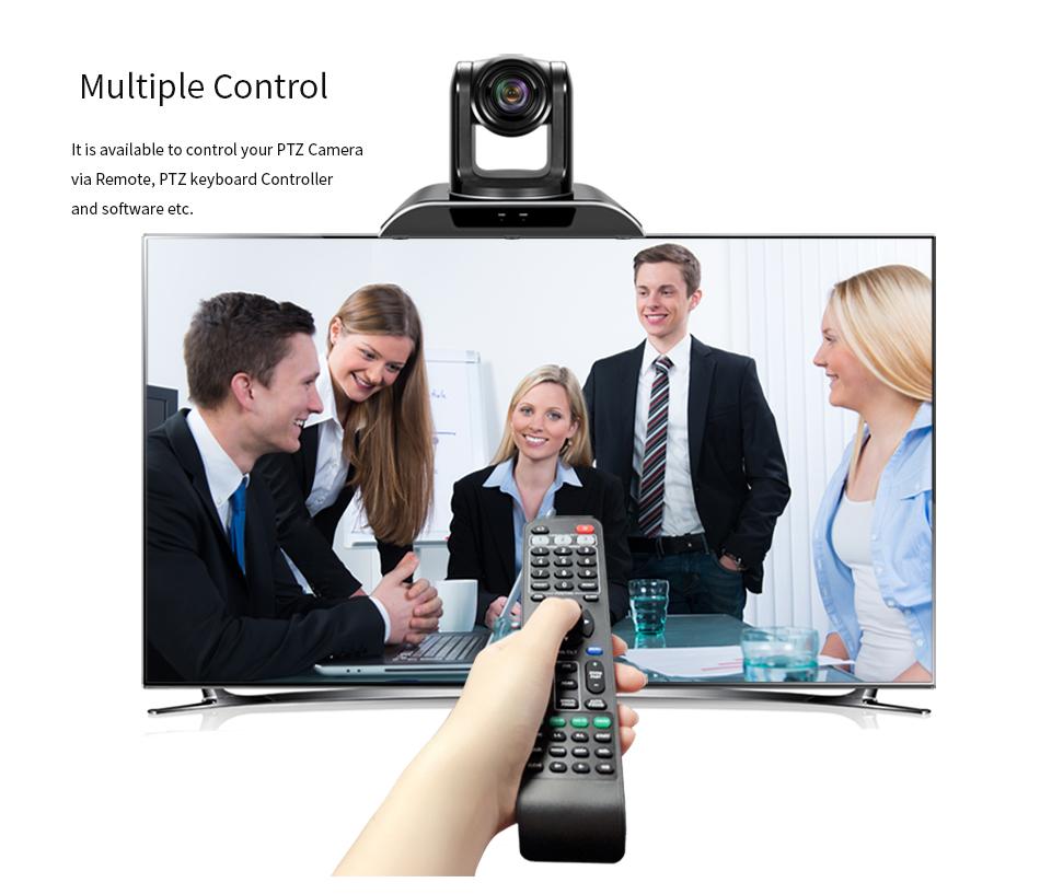 Nieuwste ontwerp, 10x optische zoom video conferencing apparatuur SDI putout audio conference systeem