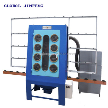 JFP-1500 Manual Vertical Sandblasting machine for the glass and marble sheet good price with CE