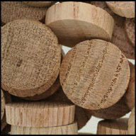 "WIDGETCO 1"" Oak Wood Plugs, End Grain"