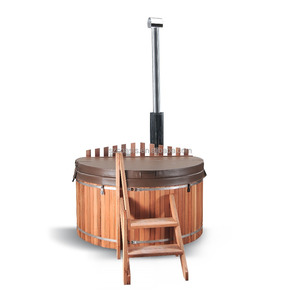 2017 Fashion wooden barrel bath tub freestanding hot tub