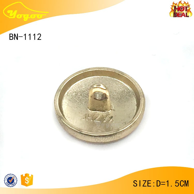 Professional design embossed metal sewing shirt button for garment factory direct