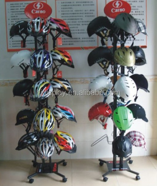 Metal Wire Stand for Motorcycle Helmet Store Display Stand