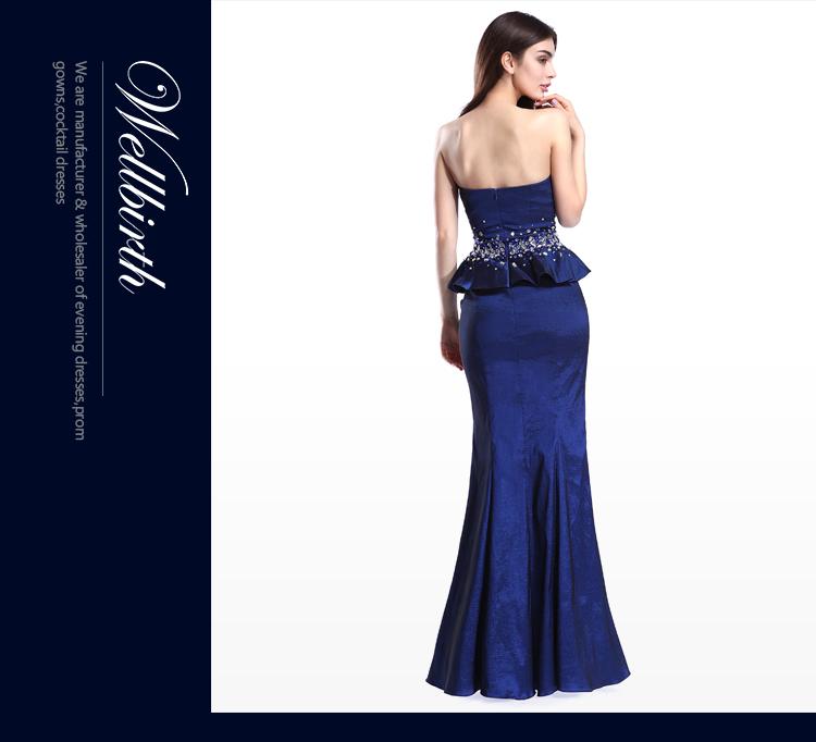 9263ced04 Formal royla de novia fiesta vestido bodycon azul oscuro de dama de honor  vestidos noche largo