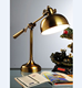UL vintage retro superior quality bankers table lamp brass circular base for bedside night lamp