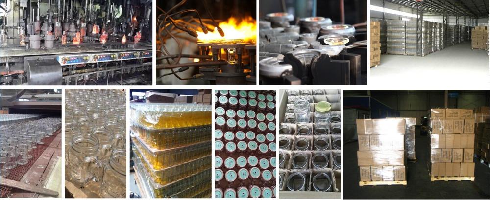 Bulk Wholesale Clear Glass Mason Jar Mug With Handles