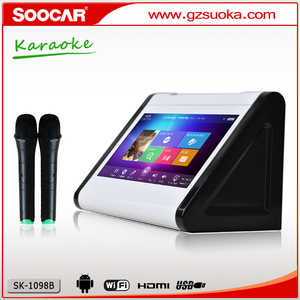 new product 2016 dual screen wifi bluetooth touchscreen hdd jukebox vietnam  outdoor entertainment karaoke player