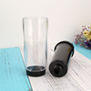 Promotional eco friendly double Wall Plastic tumbler with Paper photo insert mug