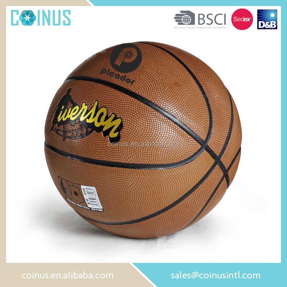 BSCI audit factory standard size 7 custom printed basketball