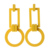 Charm Wood Earrings Cheap Wholesale Jewelry Women Square Drop Earrings JE1191