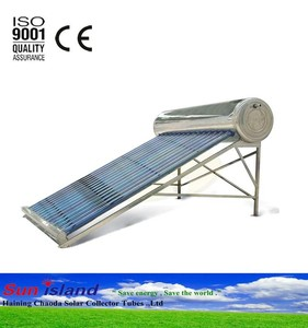 Compact non-pressurized solar water heater/evacuated tube solar hot water system
