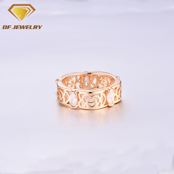 Latest Women Brass Jewelry Rose Gold Ring Designs for Girls