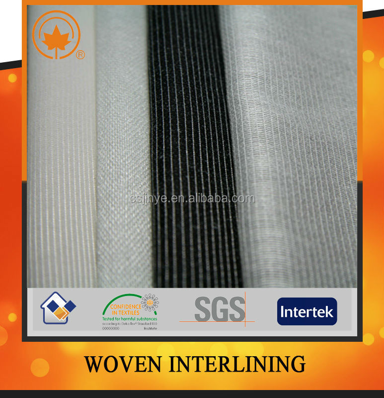 Warp knitted woven interlining with good quality and best service