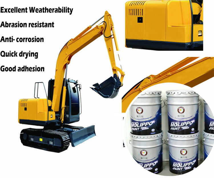 Good weatherability real gold paint for construction machines