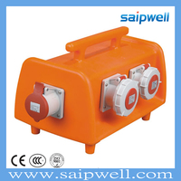 SAIPWELL Combination Power Box Hot Sale 2014 Newest European Standard Socket Outlet