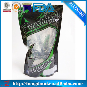 small clear Bait packing bags/PET PE fishing lures packing bag with hook/laminated fish bait bags with window