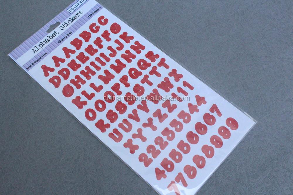 wholesale adhesive vinyl alphabet stickersplastic With buy letter stickers