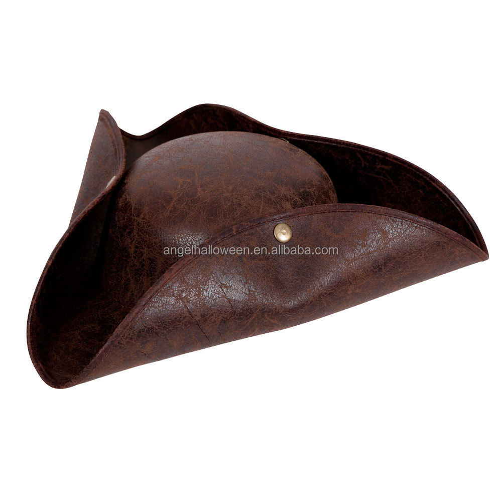 Deluxe pirate hat distressed leather outfit costume accessory for indiana fancy dress OH2530