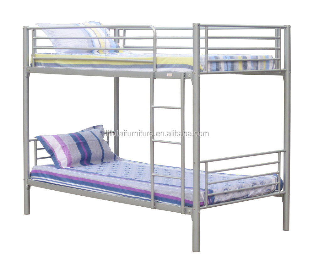 Staal metalen dubbele stapelbed loft bed voor volwassen metalen stapelbed metalen bedden product - Bed grijze volwassen ...