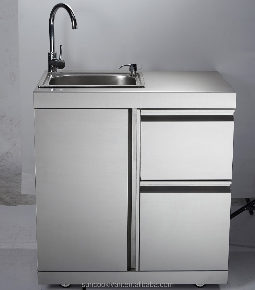 Outdoor sink cabinet stainless steel bar cabinet for Metal sink cabinet