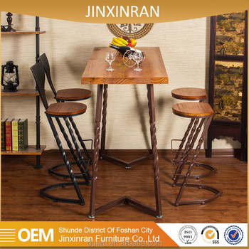 Foshan Vintage Style Counter Height Wrought Iron Bar Stools