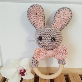 Haak Baby Rammelaar Met Een Bunny En Een Grote Boog Buy Haak Baby
