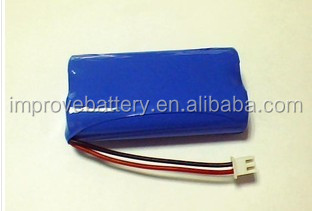 Li-ion 7.4v 18500 1200mah Battery Pack with connector