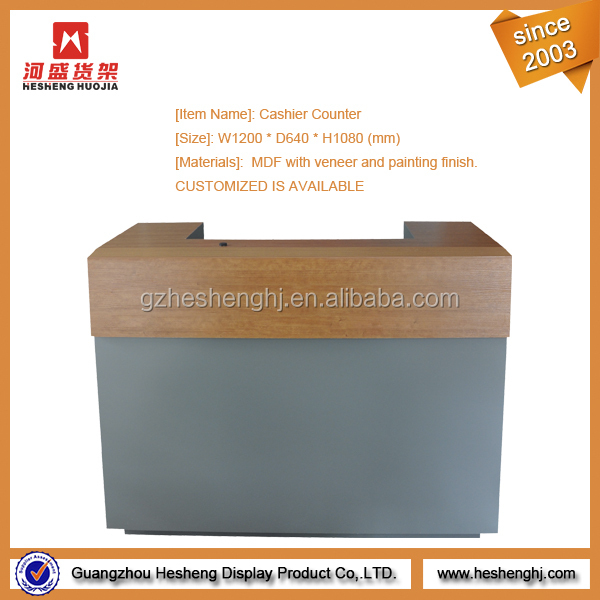 Wood Material Shop Cash Counter Design For Retail Shop Fittings ...