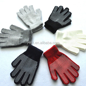 Cheap Anti Slip Rubber Coated Kids Winter Print Magic Stretch Gloves and Mittens