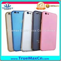 Double Color ARC Metal Bumper And Metal Back Cover Case For iPhone 6/6Plus