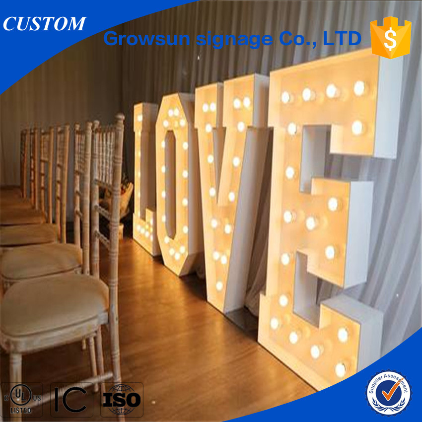 Giant love light up letters