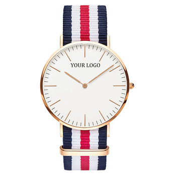 2019 Trending Products Nylon Band Custom Logo Men Women Couple Wrist Watches