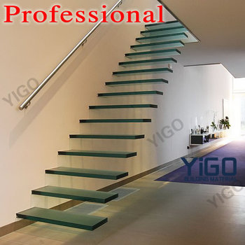 Modern Glass Folding Stairs Build Floating Staircase Buy