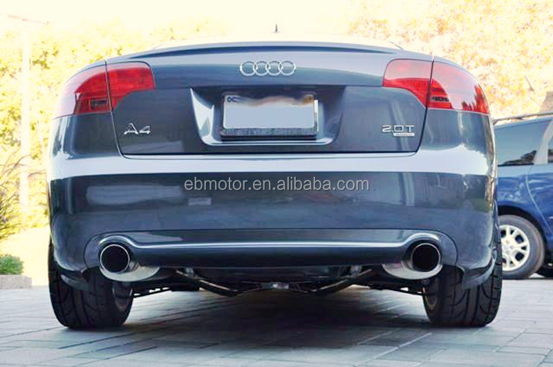 Sline Style Real Carbon Fiber Rear Lip Diffuser For Audi A4 S4 B7 Model 2006-2008 A062