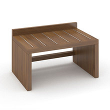 wooden panel Cherish Luggage Bench for hotel room