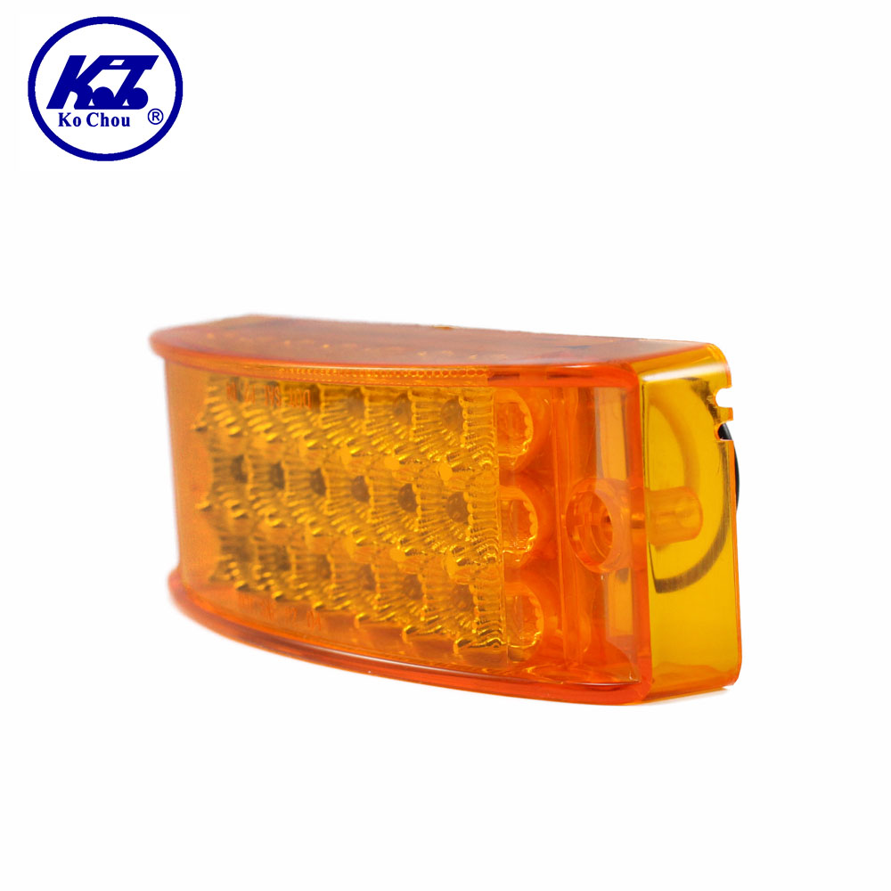 Truck spare parts 12V amber led light for universal truck