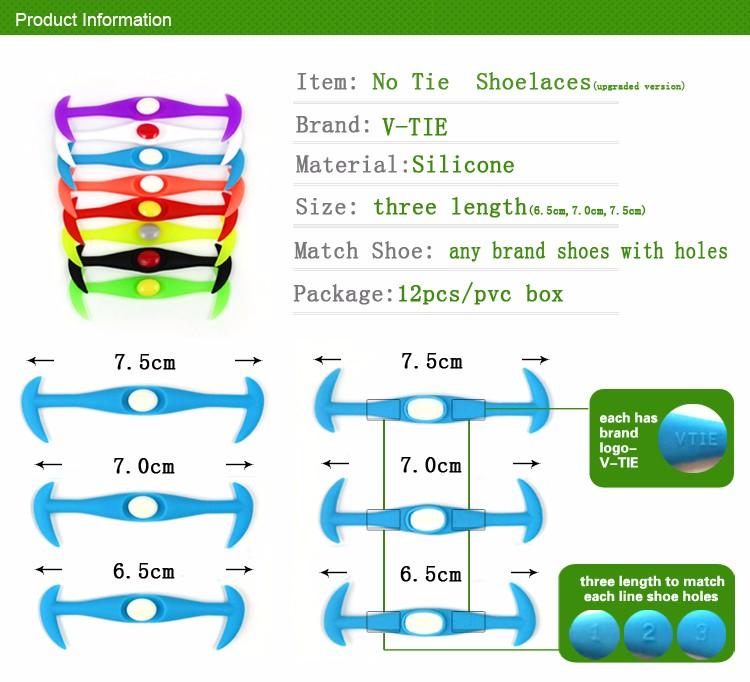 Never tie lazy shoe lace elastic rubber shoelace no tie sport lazy shoe laces ccuart Images