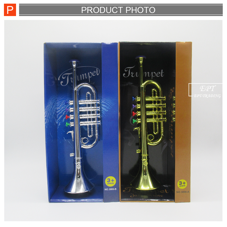 New trend kids plastic musical instruments trumpet toy for sale