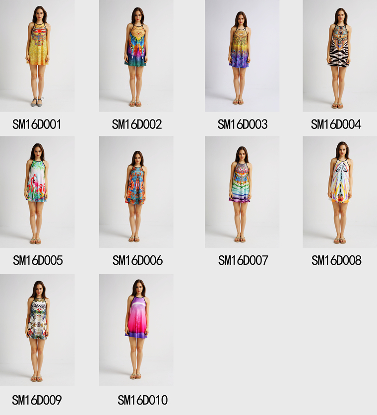 Wholesale High Quality Cheap Fashion Sexy Summer Sublimation Custom Printing Women Dress