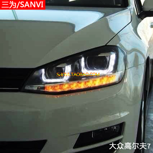 headlight for golf 7 vw golf 7 headlight assembly double. Black Bedroom Furniture Sets. Home Design Ideas