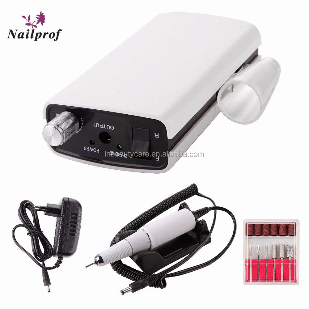 Nailprof Electric Manicure Pedicure 30000rpm Hand Nail Drill Machine With Rechargeable Battery