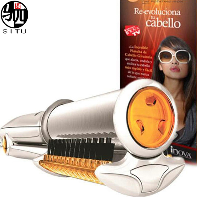 2 in 1 Electric Hair Straightener Brush Comb Fast Hair Straightener