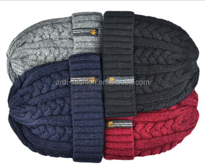 best-selling western european style funny winter cable beanie knitted hat e87893106da4