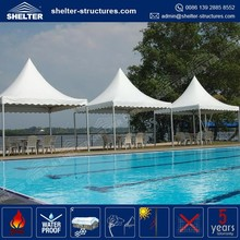 Reasonable price selected material aluminum alloy frame tailgate parties tent 6x6 m swimming pool canopy tents
