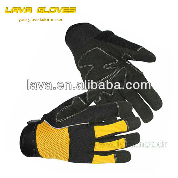 2013 lava synthetic leather Utility labour protection gloves