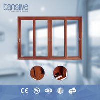 Tansive construction double glazed surface finished Aluminum frame office sliding cabinet doors